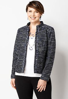 Another lovely blue piece I had to have...Midnight Blue Fringe Boucle...junebug