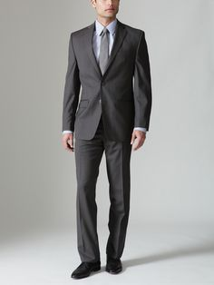Every man should have a dark, wool suit. It's a great stand-by.