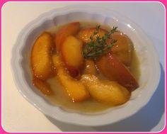 No gluten! Yes vegan!: Pesche caramellate al timo con salsa alla vaniglia...