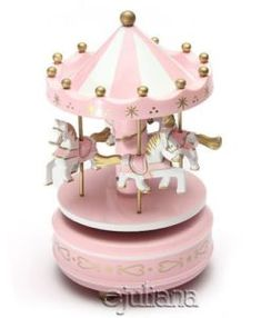 Fubarbar New Vintage Wooden Merry-Go-Round Musical Box Carousel Classic Music Box Kids Children Girls Christmas Birthday Wedding Gift Toy Collection Home Decoration (Pink) Christmas Gifts For Kids, Christmas Birthday, Birthday Gifts, Christmas Wedding, Carousel Musical, Carousel Cake, Merry Go Round Carousel, Pink Games, Wooden Music Box