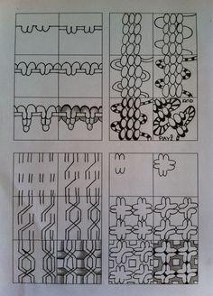 Zentangle tutorials In steps