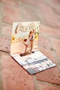 Pop up save the date card. I really like this idea but I'm assuming it would be pretty pricey?