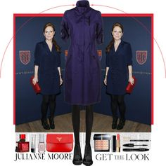 """""""Get the Look - Julianne Moore at NY Fashion Week"""" by krahmmm ❤ liked on Polyvore"""