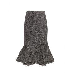 Alexander McQueen - Wool-blend skirt - mytheresa.com, $1420, 50/44/6 viscose wool cashmere, zipped side, leather trim