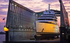 The biggest privately owned yacht ever built has been launched from a shipyard in Germany Azaam 1 by thetoptier, via Flickr