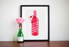 Hey, I found this really awesome Etsy listing at https://www.etsy.com/listing/194954949/friends-are-like-wine-print-red-wine