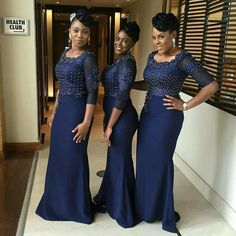 Bridesmaids Inspiration loving them. Dresses by African Bridesmaid Dresses, African Wedding Dress, Wedding Dress Trends, Wedding Bridesmaid Dresses, Wedding Attire, Bridal Dresses, African Attire, African Fashion Dresses, African Dress