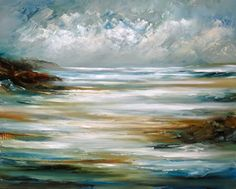 Abstract Landscape Paintings by Cat Tesla, via Behance