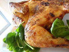 Para dizer a verdade não é bem frango de churrasco, pois foi feito no forno. Além de que duvido que o frango de churrasco leve este tempero....