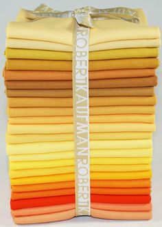 Kona® Cotton Solids, Candy Corn colorstory©  Lots of different yellows.  Don't want too much brown though.