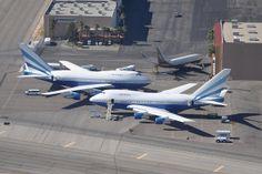 Las Vegas Sands Corporation - Boeing 747SP - VP-BLK / Boeing 747SP - VQ-BMS / and Wynn Resorts - Boeing 737-700 (BBJ) - N88WR - McCarran Int...