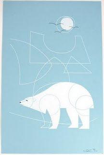 Water polar bear