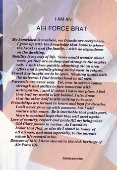 I am an Air Force Brat