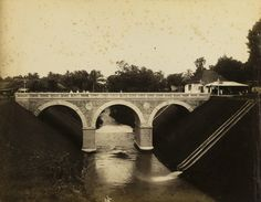 Roode brug te Buitenzorg, ca 1880