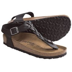 Tatami by Birkenstock Kairo Sandals - Leather (For Women) in Black.