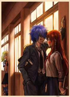 Fairy Tail - Jellal x Erza Fairy Tail Amour, Art Fairy Tail, Anime Fairy Tail, Image Fairy Tail, Fairy Tail Comics, Fairy Tail Love, Fairy Tail Guild, Fairy Tail Ships, Fairy Tales