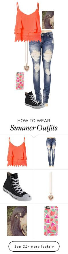 """Abby's Outfit: DWB Roleplay"" by jaycee-marie-pena on Polyvore featuring Glamorous, Thomas Sabo, Converse and Casetify"