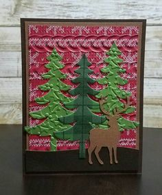 Check out this item in my Etsy shop https://www.etsy.com/listing/483031218/country-deer-and-trees-christmas-card