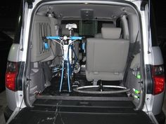 interior bike mount DIY for honda element...now if only my element was this clean