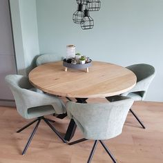 Home - Hollemans Homesteel Kitchen Dinning Room, Dining Room Inspiration, Space Saving Furniture, Round Dining Table, Home Living Room, Home Goods, Interior Design, Decoration, House
