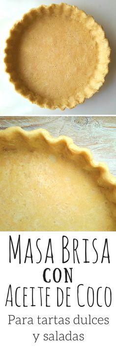 ¿Cómo hacer masa brisa o masa quebrada sin mantequilla o margarina? Con aceite! Esta masa brisa es totalmente vegana y perfecta para tartas dulces y saladas.