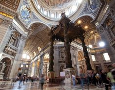 Bernini's baldacchino in St. Peter's. Impressed me from the time I was in high school