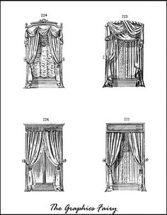 Windows and drapes for my dollhouse. #windows #drapes #printables #dollhouse