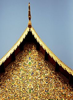 The exterior details of Chiang Mai's Wat Phra Singh are amazingly intricate.