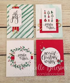 Easily make Christmas cards using the Watercolor Christmas project kit from Stampin' Up! www.nicollebelesimo.stampinup.net