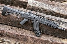 Custom Ak47, Custom Guns, Weapons Guns, Guns And Ammo, Krebs Custom, Ak Pistol, Tactical Scopes, Steampunk Weapons, Bolt Action Rifle