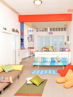 Amazing! Colorful Living Room