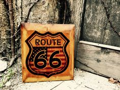 Excited to share the latest addition to my #etsy shop: Route 66 Sign Home Decor Wall Art Hangings Route Signs Wooden Picture Artwork