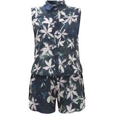 Alice Playsuit Green Floral, $220, now featured on Fab.
