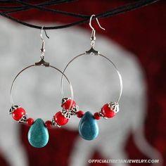 Ethnic Jewelry - Tibet Nepal Style Tibetan Jewelry Earrings - Dripping
