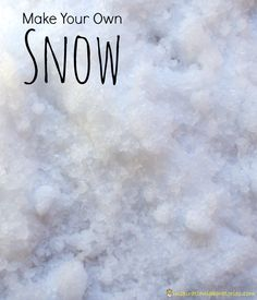 An easy way to make your own snow plus 5 activities and experiments for indoor snow play.