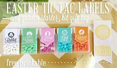 easter tic tac labels cover