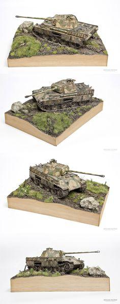 Mud, mud and more mud !!! PzKpfw V Panther G - 1:35 Tamiya