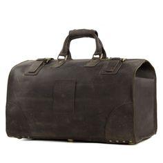 Vintage Genuine Leather Travel Bag Duffle Bag