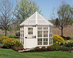 Built by one of the nations top builders this quaint 8x8 octagon greenhouse is guaranteed to transform your yard! Dozens of transoms and working windows provide plenty of sunlight as does the semi-tra