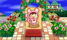 Pink Squirrel Face Board - Animal Crossing New Leaf QR Codes