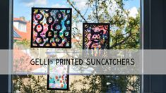 Soak Up the Sun with a Gelli® Printed Sun Catcher! Gelli Plate Printing, Summer Ray, Gelli Arts, Mixed Media Tutorials, Plate Art, Sun Catcher, Painting Techniques, Fun Projects, Painting & Drawing