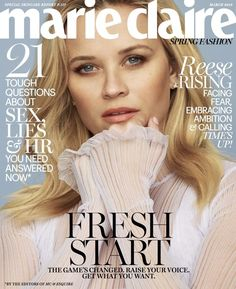 Reese Witherspoon on the March 2018 Cover of Marie Claire Magazine Reese Witherspoon, Beauty Advice, Beauty News, Marie Claire Magazine, Fashion Magazine Cover, Magazine Covers, Magazine Photos, Dior, A Wrinkle In Time
