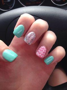 My cute chevron nail art!