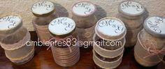 Recuerdos para boda vintage!!... reutilizando frascos de vidrio. facebook.com/ambientes83 ambientes83@gmail.com