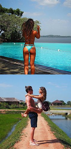 Turns out, Made In Chelsea's Louise Thompson may not be being ENTIRELY honest about her exotic photos.