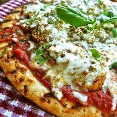 Grilled Mediterranean Greek Pizza with Sundried Tomato Chicken Sausage Allrecipes.com