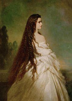 Empress Elisabeth of Austria by Franz Xavier Winterhalter, 1864.