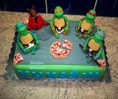 Ninja Turtles Birthday Cake, Ninja Cake for Boys Birthday Ninja Turtle Party, Ninja Turtles, Ninja Turtle Birthday Cake, Ninja Turtle Cake Topper, Ninja Cake, Tmnt Cake, Foundant, Cool Birthday Cakes, Birthday Ideas