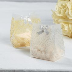 Frosted Gold Wedding Favor Bags - OrientalTrading.com