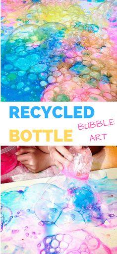 RECYCLED BOTTLE BUBBLE ART WITH KIDS - Hello Wonderful 2019 - ruffle tutu bubble blank bubble dress bubble pink bubble romper bubble romper for girl bubbles smocked bubble bubble bubbles ruffle bubble - Ruffle Bubbles Bubble Painting, Bubble Art, Painting For Kids, Art For Kids, Bubble Bottle, Kids Bottle, Fruit Painting, Dot Painting, Recycled Art Projects